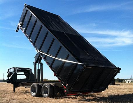 dump truck tarp system